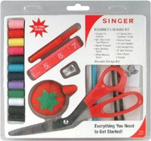 A simple Singer sewing kit that can be bought prepackaged.