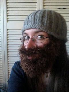 Fuzzy Beard Hat