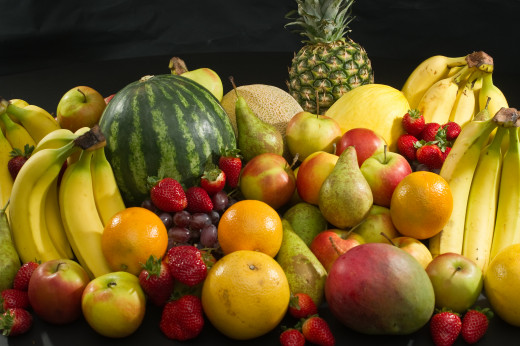 Fibre rich and healthy fruits