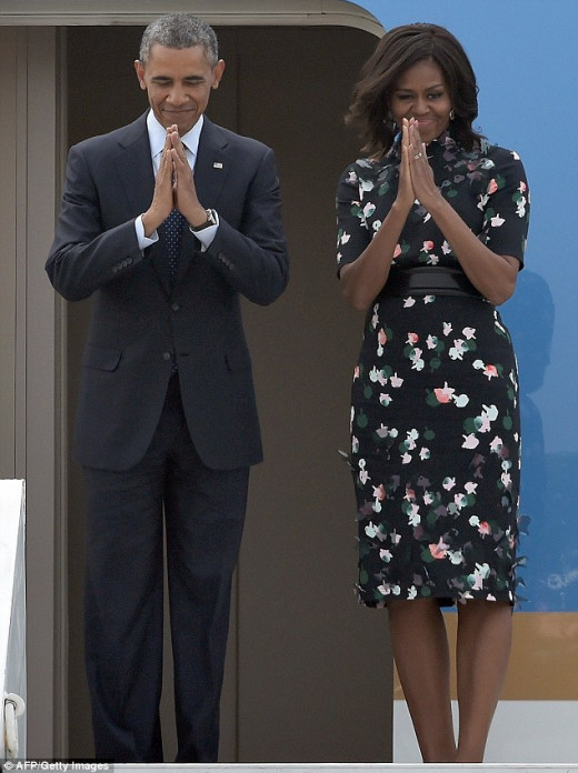 Farewell Namaste by FLOTUS and POTUS