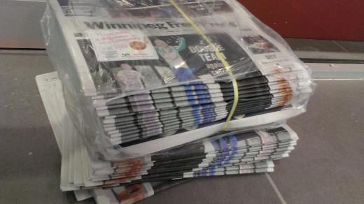 Newspapers have cut down the price of their weekend editions to about two dollars because of the internet competition.