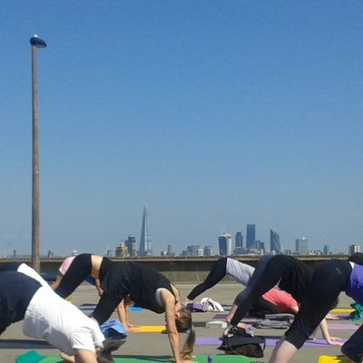 Sun salutations in the open air
