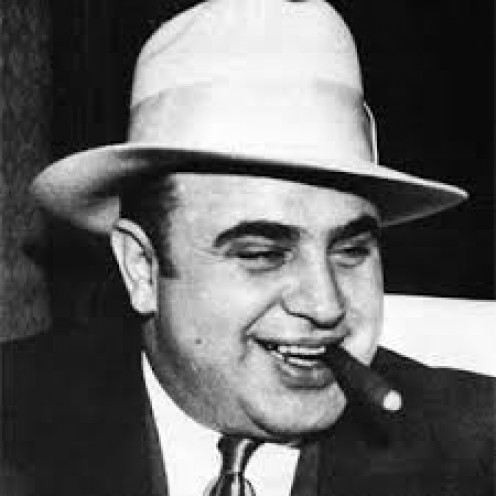 Al Capone, The one-time No. 1 public enemy and crime boss
