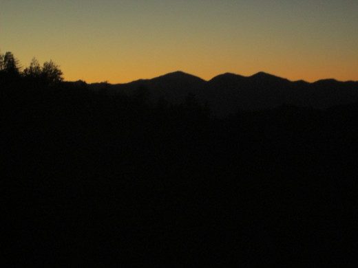 I love photographing the view of Mount Baldy at sunset.