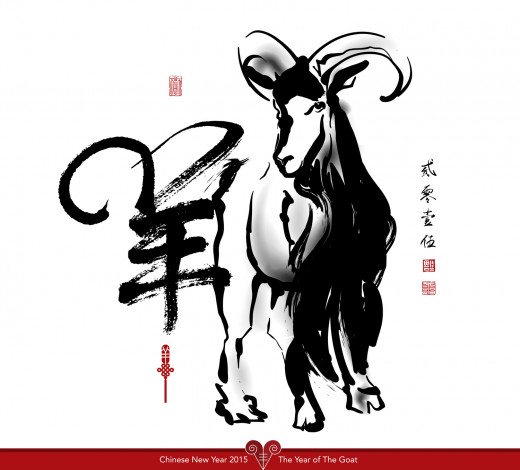 Year of the Goat starts on 16 February 2015.  Image:  © yienkeat - Depositphotos.com