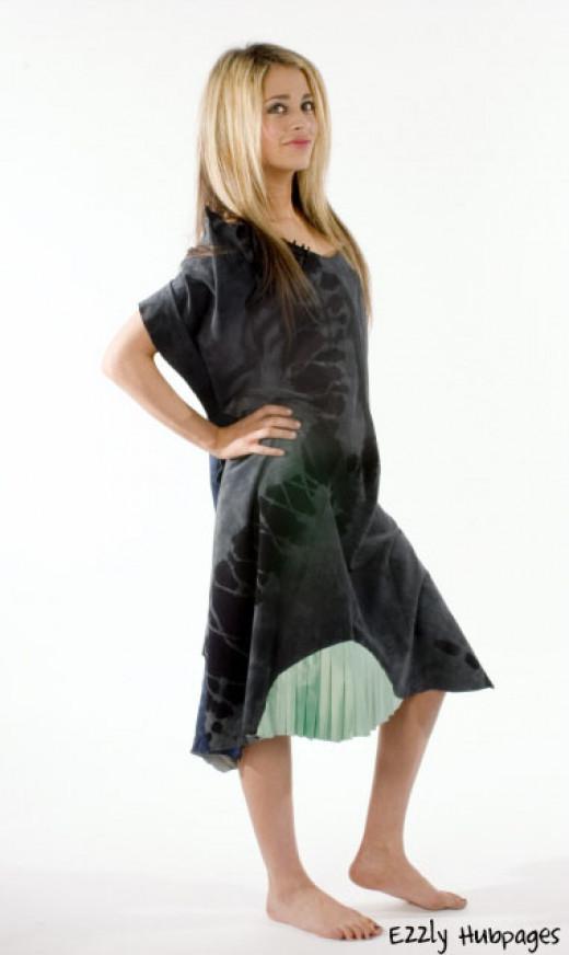A leather dress I draped. Source : Ezzly