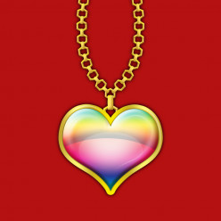 How to Design Rainbow Colored Heart Pendant Icon in Adobe Photoshop
