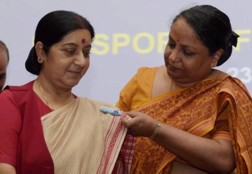 Sujatha Singh with Sushma Swaraj
