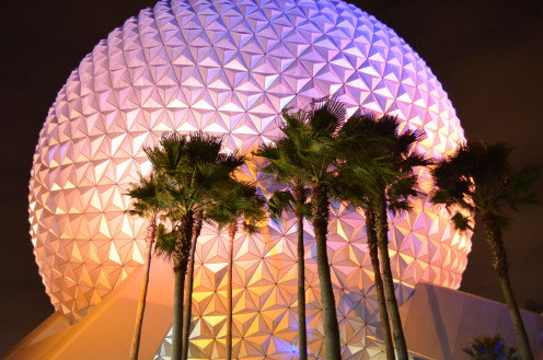 Spaceship Earth beckons visitors to EPCOT. See the photos below of EPCOT's spectacular performance of The Candlelight Processional - it's a limited unforgettable holiday treat with celebrity narrators like Whoopi Goldberg and Neil Patrick Harris.