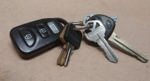 Keys can make good emergency weapons.