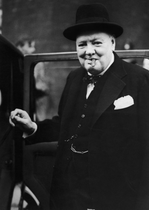 Churchill became the epitome of determination to defeat his enemy