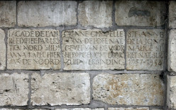 Former St. Anne's Chapel, Brussels, North-South Junction inscription