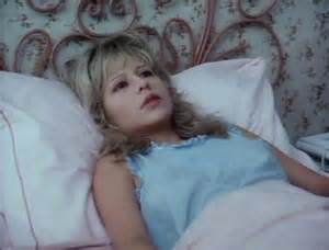 "Pia Zadora stays in bed after ""winning"" her third Razzie and for starring in the eighth Worst Picture in Razzie history- The Lonely Lady"