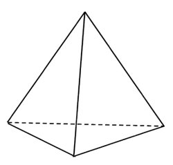 Tetrahedra made up the element fire.