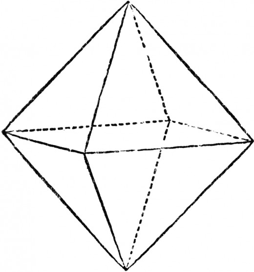 Octahedra made up the element air.