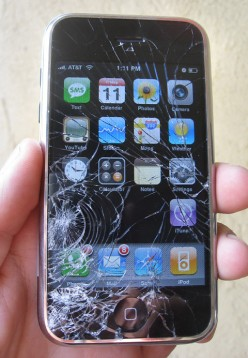 Still using that iphone with a cracked screen..?