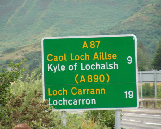 Gaelic and English used here.