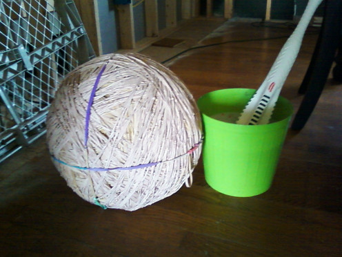 The rubber band ball was15 inches in height and it weighed in excess of 62 pounds by the end of July of 2015.