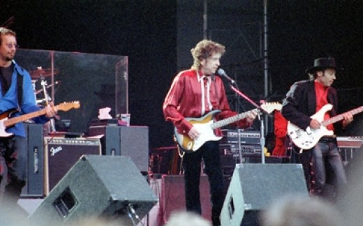 Dylan performs at a 1996 concert in Stockholm. Photo Credit - http://en.wikipedia.org/wiki/Bob_Dylan
