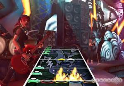 Guitar Hero allows players to make music using a guitar instead of a controller.