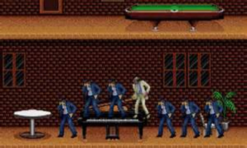 In Moonwalker, you play as Michael Jackson and you punch, kick & dance through the levels.