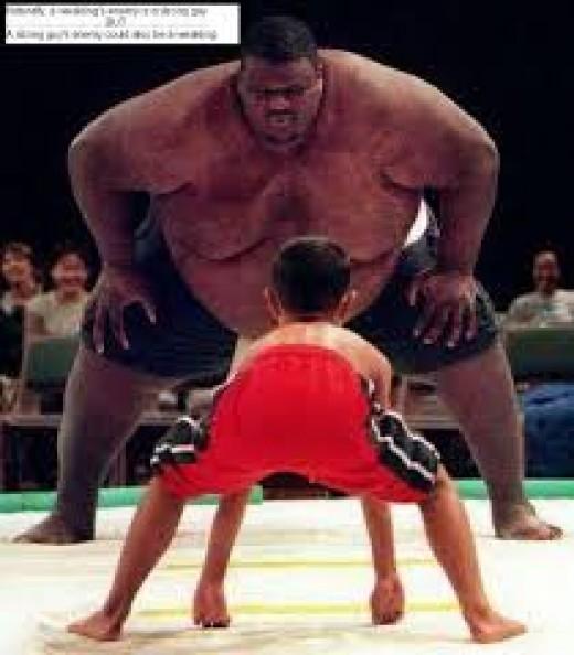David  & Goliath ?