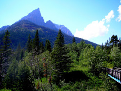View of Mount Blakiston from Red Rock Canyon, Waterton National Park, Alberta, Canada