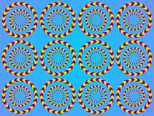 Illusion art in motion
