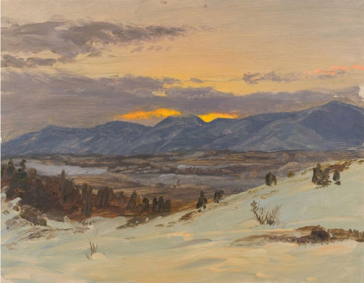 Winter Twilight from Olana by Frederic Edwin Church