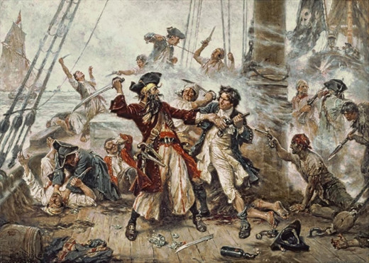 One of the classic pirate battles of all times occurred in 1718, when Lieutenant Maynard of Virginia sailed southward and attacked Blackbeard the pirate in Ocracoke Bay, which is located in the Outer banks of North Carolina.