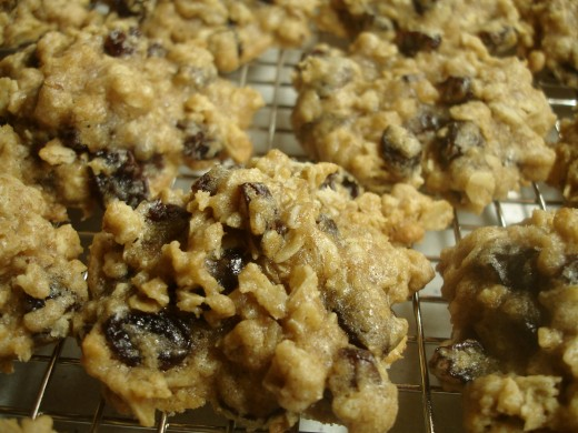 High-fiber oatmeal raisin chocolate chip cookies.