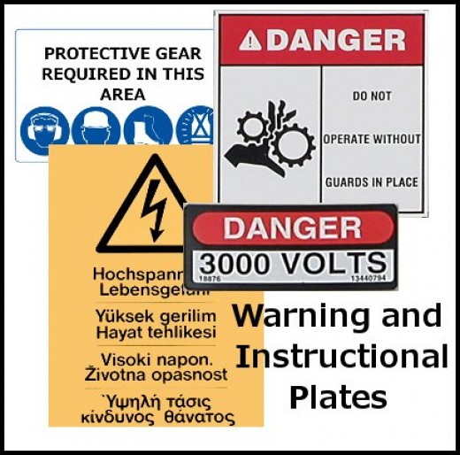 Warning and Instructional Plates