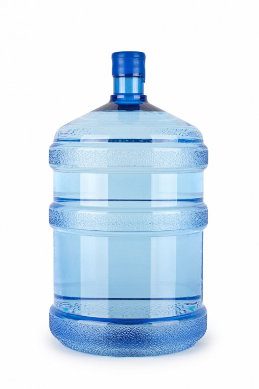 A gallon of drinking water.