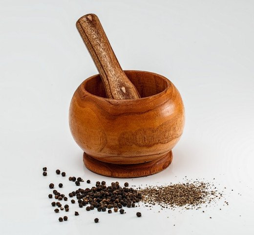 Eco-friendly and sustainable mortar and pestle.