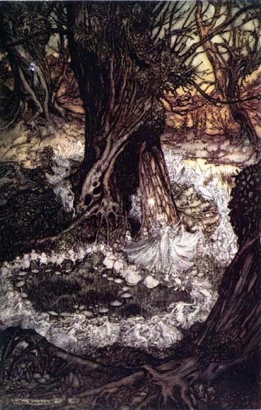 """""""Come, now a roundel."""" by Arthur Rackham"""