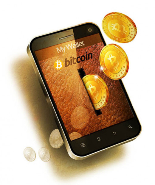 Phone app wallet allows payment with bitcoins