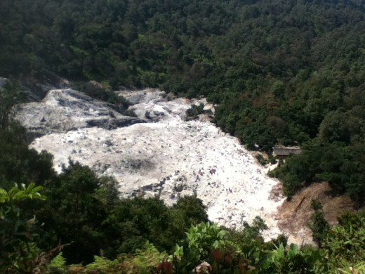 Kawah Domas from a distance
