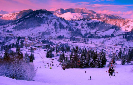 Borsa ski resort in winter