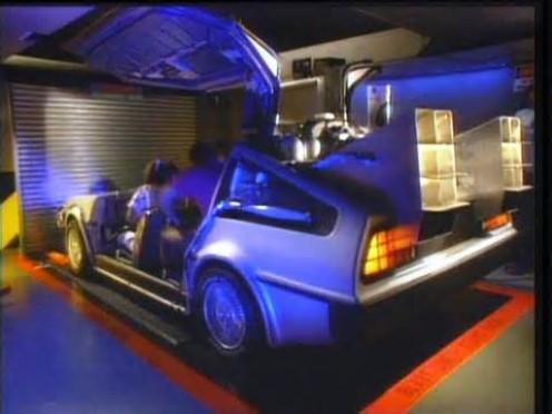 This car is where you sit during the ride which is loosely based on The Back To The Future.