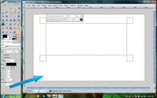 GIMP's canvas