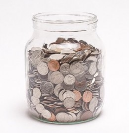 A coin collection can be very helpful.
