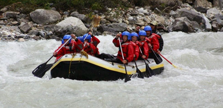 Wild and woolly Kicking Horse River rafting
