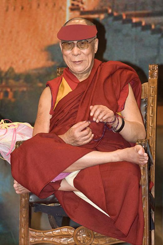 The Dalai Lama, source Wikimedia Commons