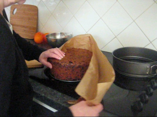 Remove the Greaseproof Paper