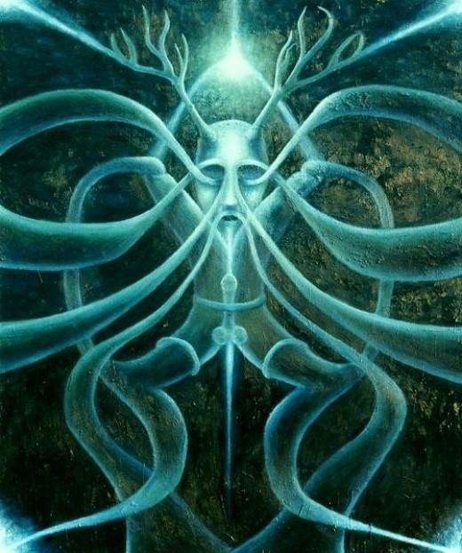 Celtic god Cernunnos - Lord of the Animals