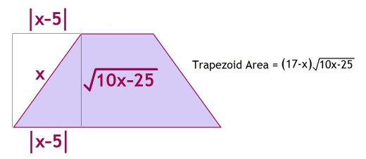 how to find height of trapezoidal prism