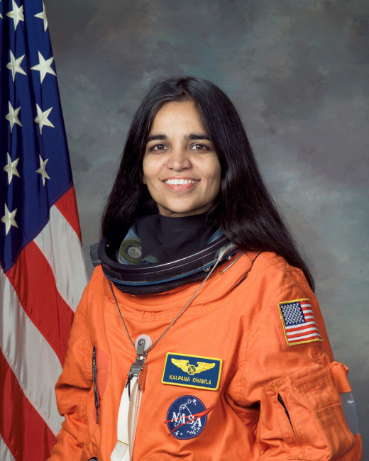 Kalpana Chawla (March 17, 1962 – February 1, 2003) was born in Karnal, India. She was the first Indian-American astronaut and first Indian woman in space.