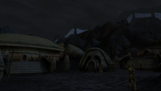 Being able to see the Ghostfence from Ald'ruhn is one of the advantages given by Morrowind Graphics Extender