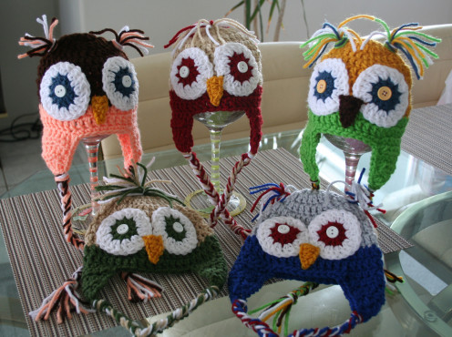 My 5 Newbie Crochet Owl Baby Caps pattern by: Repeat Crafter Me