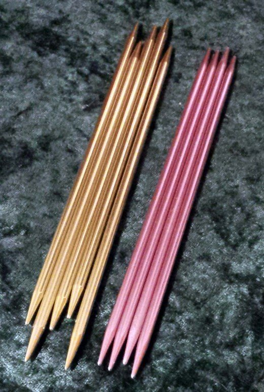 I don't use these as often as my straight needles, but they have come in handy when making mittens, socks and gauntlets, or finishing hats.